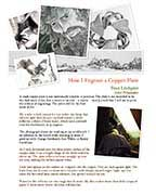Evan Lindquist artist-printmaker, thumbnail button to download PDF presentation about burin engraving